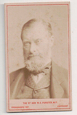 "Vintage CDV William Edward Forster "" Buckshot Forster "" Liberal Party statesman"