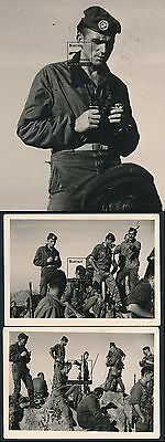 2 Fotos ca. 1950 Fremdenlegion Fallschirmjäger Abz. Paratrooper Badge Légion