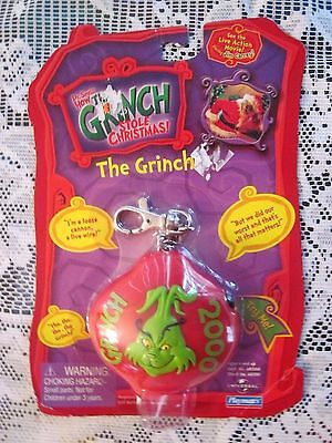 Dr. Seuss' How the Grinch Stole Christmas Playmates Talking Key Chain 2000, Red