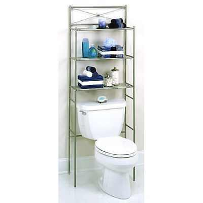 3 Shelf Over The Toilet Bathroom Space Saver Organizer Metal Towel ...