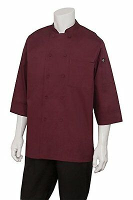 Chef Works Men's Essential 3/4 Sleeve Chef Coat (JLCL)...NEW