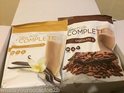New Juice Plus Shakes Vanilla or Chocolate Pouch Meal Replacement Diet