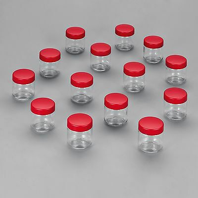 Severin Replacement 8 Jars with Lids for Yoghurt Maker Red