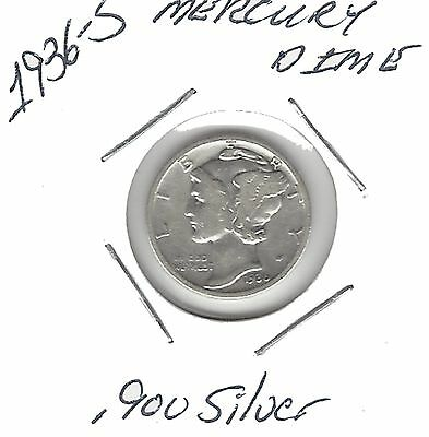 US 1936-S Mercury Dime .900 Silver....Must See !!