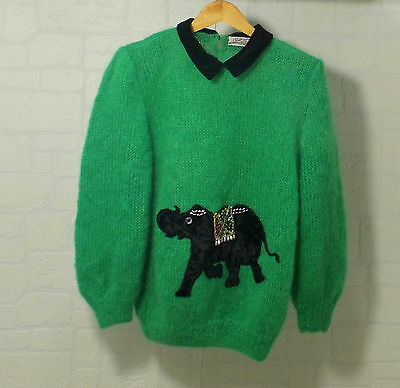 MAGLIONE VINTAGE IN LANA ANNI 60 LAVORATO A MANO 60s WOOL JUMPER MADE IN ITALY
