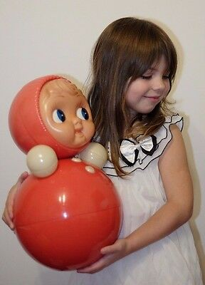USSR Roly-poly doll Vintage Celluloid Musical doll Soviet Vintage doll 40cm 16''
