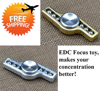EDC Focus toy spinner brass/aluminium, makes your concentration better