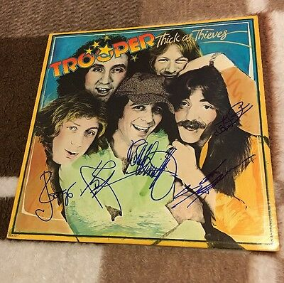 Trooper - Thick As Thieves Vinyl LP Record *Band Autographed* Record Sale