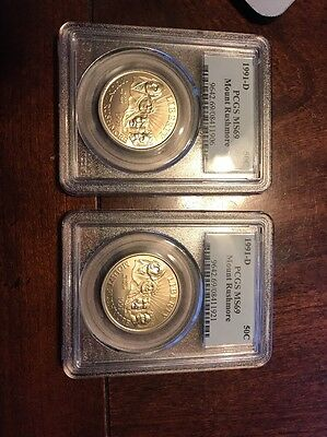 1991 D 50C Mount Rushmore Commemorative PCGS MS69