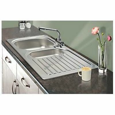 Franke 1½ Bowl Kitchen Sink  & Drainer Stainless Steel 965 x 500mm