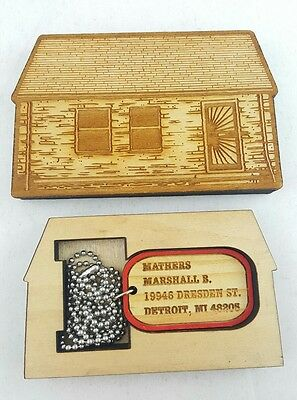Eminem Good Wood Dog Tag * Rare * Collectable * made from Eminems childhood home