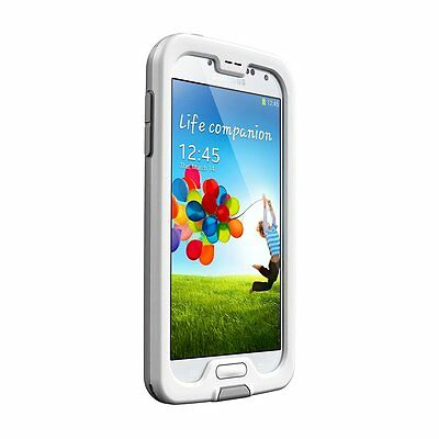Lifeproof Nuud Case for Samsung Galaxy S4-Retail Packaging, White/Gray/Clear