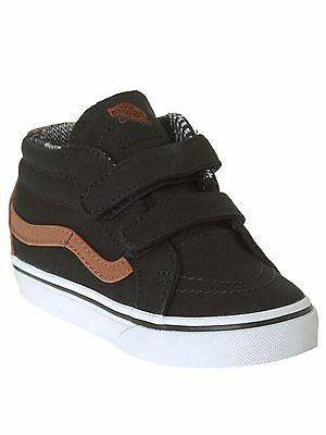 Vans Black-Material Mix SK8-Mid Reissue V Toddlers Shoe