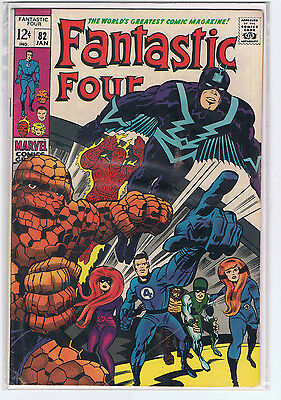 Fantastic Four Comic Issue #82 ft Inhumans | Stan Lee Marvel Comics Fine+ (F+)