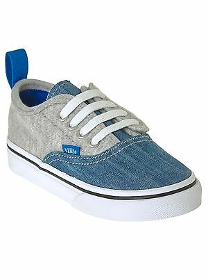 Vans Imperial Blue-True White Authentic V Lace Toddlers Shoe