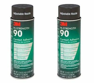 3M 17.6 oz. High-Strength 90 Spray Adhesive 2 Pack Contact Bond Indoor Outdoor