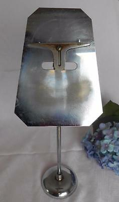 Art Deco CHROME PEDESTAL SHOE OR HAT STORE COUNTER DISPLAY STAND Antique