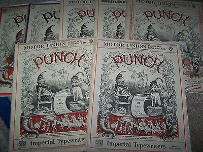 Seven Vintage Punch Magazines