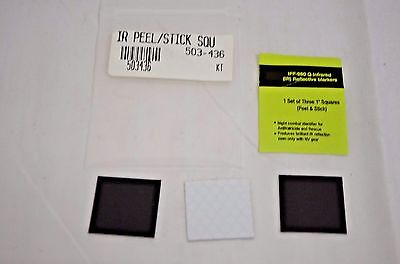 3 Infrared IR Reflective Square Patch - 1 Inch X 1 Inch NEW IN PLASTIC