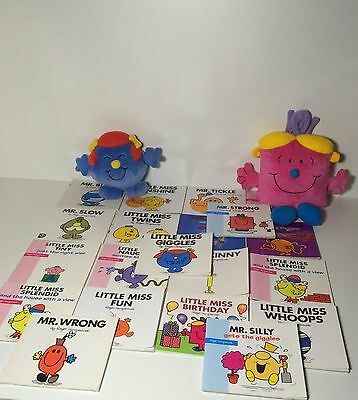 Mr Men & Little Miss 20 Book Bundle With Free Plushes!