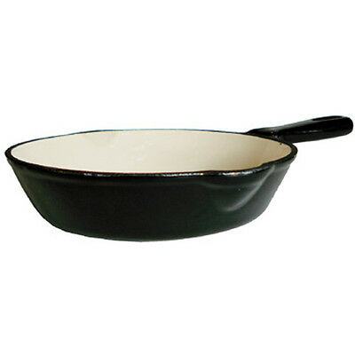 "Fancy Cook Enamel Cast Iron Black Skillet 8"", Clearance Sale!"