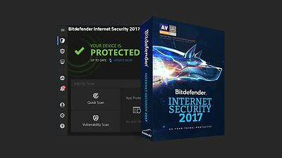 Bitdefender Internet Security 2017 | 3PCs / 2-Year | Electronic Delivery