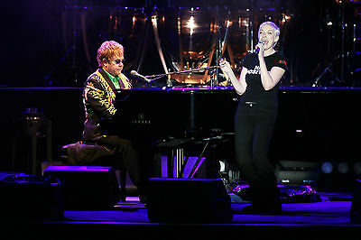 Annie Lennox Eurythmics And Elton John 8X10 Photo