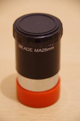 """Meade 25mm Low Power Modified Achromatic Eyepiece for 1.25"""" Telescope No Reserve"""