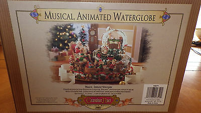 Grandeur Noel Musical WaterGlobe Animated Joy to The World Orig Box 2002 Awesome