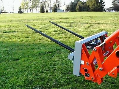"Skid Steer DOUBLE Bale Spear Attachment 2 x 49"" Prong Hay Bale Handler CAT-M"