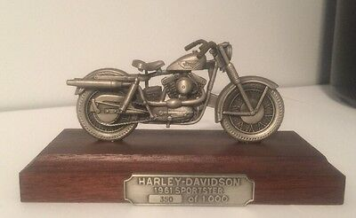 1961 Sportster Limited Edition Harley Davidson Pewter Replica 350 Of 1,000 Rare!