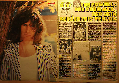 2 german clipping SLADE DON POWELL N. SHIRTLESS GLAM ROCK POP BOY BAND BOYS 70s