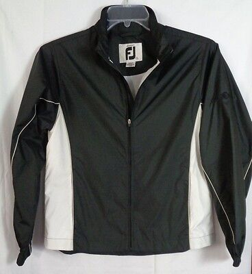 FOOTJOY Golf Jacket Zip Up LINED Womens S Small Grand Harbor LOGO Brown L/S NICE