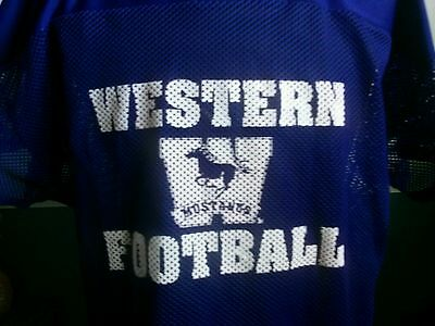 Game worn Western University Mustangs football practice jersey  CIS XL