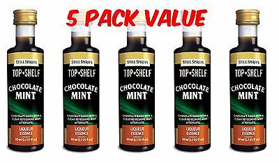 Still Spirits Top Shelf CHOCOLATE MINT -5 Pack-Liqueurs Schnapps Homebrew