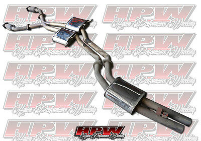 "XFORCE Twin 2 1/2"" Stainless cat back exhaust high flow cats VT VX VY VZ HSV"