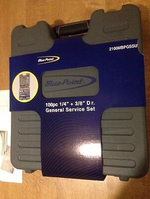 """Snap On Blue Point 100 Piece 1/4"""" & 3/8""""dr Metric General Service Set"""