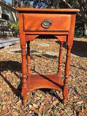 Vintage Cushman Creations One Drawer Nightstand Side Table Bennington, VT