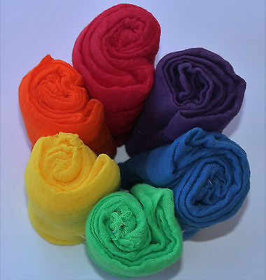 Rainbow Cheesecloth Wraps for Newborn Photography Props 36 x36  Grade 60