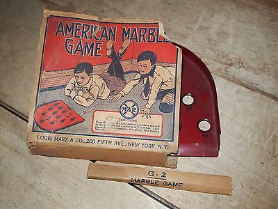 Vintage 1930s American Marble Game Louis Marx & Co New York With Original Box