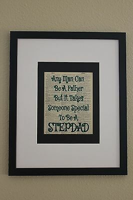 Someone Special To Be A Stepdad On Upcycled Vintage Dictionary Page, Stepdad