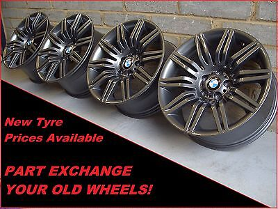 """1868 Genuine 19"""" BMW 172M Spider 5 Series E60 6 7 Series Staggered Alloy Wheels"""