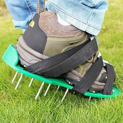 Lawn Aerator Sandals / Aerating Spikes Heavy Duty Spiked Shoes Aeration Green