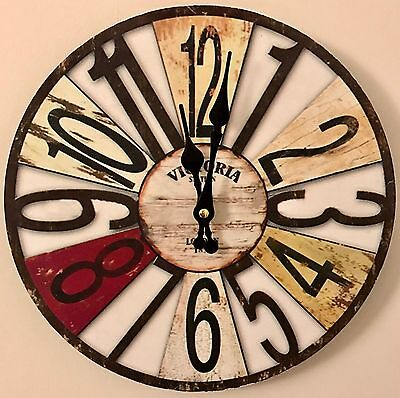 10 x Vintage, Shabby Chic style wall clocks, wholesale clearance resale