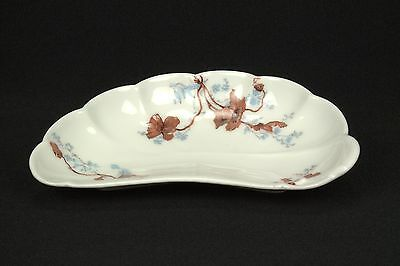 Haviland & Co Schleiger 685c Bone Dish Limoges Pink Brown Flowers DECO WEAR