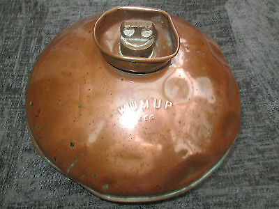 RARE Antique copper WUMUP hot water bottle Bed warmer with stopper Germany 1920