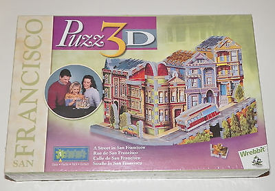 A Street in San Francisco Wrebbit Puzz 3D 188pc Puzzle Sealed EASY