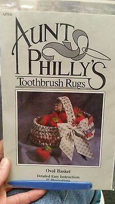 Aunt Philly Toothbrush Rug Making - Pattern  Free Shipping!!!