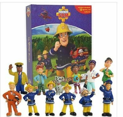 Fireman Sam My Busy Book + 12 Character Figurines & Play mat Brand New