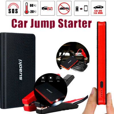 12V Car Jump Starter Emergency Portable Battery Charger Booster Power Bank Pack